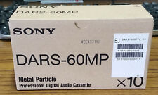 Lot of 10 Sony DARS-60MP DTRS DA-88 Metal Particle Pro Digital Audio Cassette
