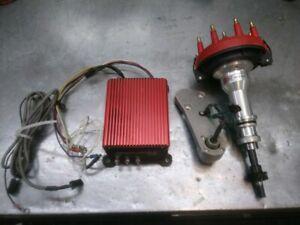 MSD 8379 8981 Low Profile Crank Trigger Distributor 302 V8 Ford timing computer