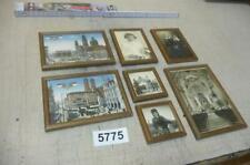 5775. 7 Stück alte Rahmen mit Bild Druck + Fotografie