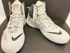 NIKE ZOOM HYPERFUSE WHITE & GRAY HIGH TOP MEN'S SHOES 2014 SIZE 11 615896-004