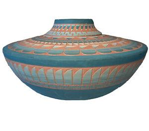 C MARIA Vintage Native American Pottery Vase
