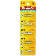 kit 5x pile batterie alkaline Raymax 27A 12V per telecomando chiave automobile