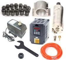 CNC 2.2KW Wassergekühlte Fräsmotor / Spindle / Fräse Spindel +Frequenzumrichter