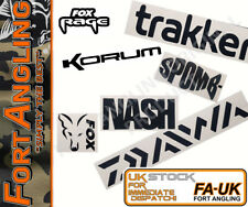 """FORT PRO - """"2 X FISHING LABEL/ STICKERS"""" HIGH QUALITY"""