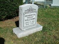 Cemetery headstone tombstone 100% granite complete with engraving free shipping