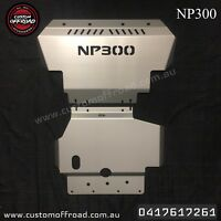 Navara NP300 2 Piece Bash Plate Set 3mm Stainless Steel - Front and Sump