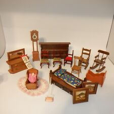 Vintage Doll House Furnishings 17 Assorted Pieces Furniture and Accessories