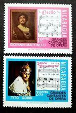 Nicaragua 1975 Opera Singers 1c & 2c - 2v MLH