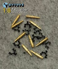 ZY Toys 1/6 Weapon Model 50PC Metal 7.62 Caliber Machine Bullet Chain Figure