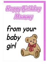 Geburtstags Karte für Mami - Alles Gute Zum aus Ihrem Kleines Mädchen
