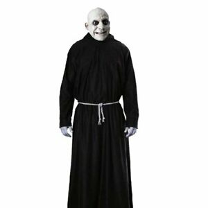 UNCLE FESTER ADDAMS FAMILY ADULT MEN BLACK ROBE FANCY HALLOWEEN COSTUME SIZE M/L