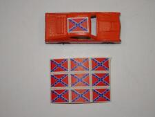 VTG 1980'S MIDGETOY DUKES OF HAZZARD GENERAL LEE DECAL STICKERS. LOT OF 9
