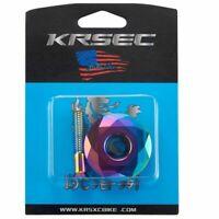 "KRSEC MTB Road XC Bike Alu 1-1/8"" Stems Headset diamod Top Cap Set with Bolt 10g"