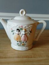 Vintage Porcelier Teapot Dutch Girls~ Hand Painted ~ Made in the USA ~ Very Nice