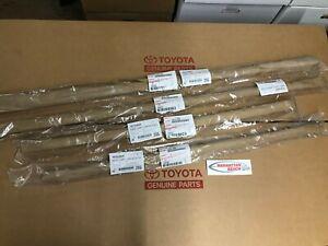 2011-2020 SIENNA Door Belt Molding Weatherstrip BLACK (4 PC SET) Genuine Toyota