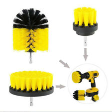 """Heavy Duty Scrubbing Cleaning Brushes Power Drill Attachment Yellow 2"""""""