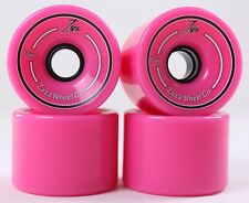 76mm 78a Gel Soft Longboard Wheels (Logo Pink)