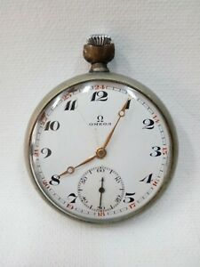 VINTAGE OMEGA OPEN FACE MEN'S POCKET WATCH
