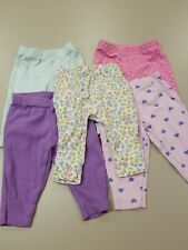 Lot Of 5 Baby Girls 3 Months Carters Pants With Cute Characters On Back