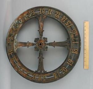 Large Antique 20 Architectural Skyscraper Building Elevator Floor Indicator, NR