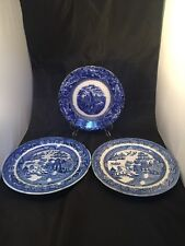 Antique Vintage Willow Ware Plates One Maybe Swansea
