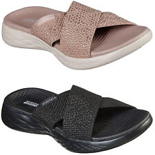 Skechers On The Go 600 - Glistening Sandals Womens Summer Goga Slides Flip Flops