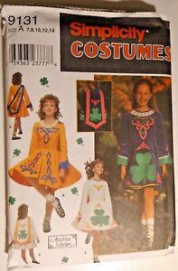 Simplicity 9131 Sewing Pattern Child's Dress Irish Dance Costume Rare Find