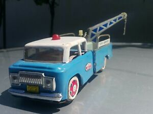 VINTAGE TOY TRUCK WRECKER CRANE MF 715 ST-1 SERVICE GMC CHINA AAA FRICTION POWER