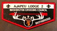 AJAPEU OA LODGE 2 WASHINGTON CROSSING PA BSA 2018 BROTHERHOOD FLAP ONLY 150 MADE