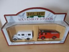 "Lledo LOS8002 ""LCC Fire Engine & Ambulance"" Souvenir Of London Set - Boxed"