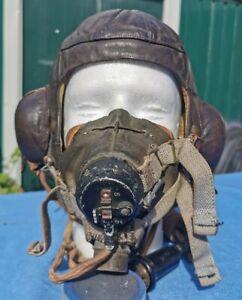 ww2 RAF B-type flying helmet/G-type oxygen mask - set