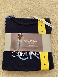 Designer CK Calvin Klein Underwear 2 Piece Pajama Set Tshirt Lounge Pants Logo S