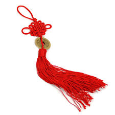 FENG SHUI FORTUNE COIN TASSEL RED Hanging Cure NEW Wealth Good Luck Prosperity