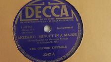 The Oxford Ensemble - 78rpm single 10-inch – Decca #2342 Mozart