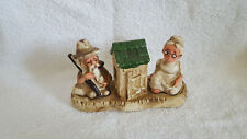 Vintage Hillbilly Ma & Pa Outhouse Salt and Pepper Shakers 3 Piece