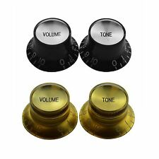 2 x Bell Shape Mirror Reflector Guitar Knobs  for Gibson Epiphone Les Paul SG ES