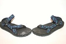TEVA Terradactyl Men Blue Green Black  Print Straps Water Hiking Sandals Sz 11