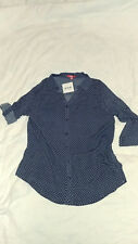 Women Blouse SES Fashion Size 16 Blue Office Career Style