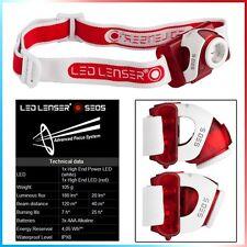 LAMPADA FRONTALE DA TESTA SEO 5 RED LED LENSER PESCA 180 LUMEN HEADLAMP