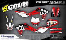 SCRUB Husqvarna TC 250- 450 - 510 2005-2007 '05 '07 Grafik Dekor-Set