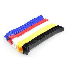 Assorted Adjustable Black Strap Hook Loop Reusable Cable Ties Organiser tidy