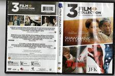 3 Film Favorites 90s Leading Men Dvd Shawshank Redemption Fugitive Jfk Drama Vg