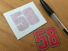 Marco Simoncelli Number 58 Helmet Decals (pair)