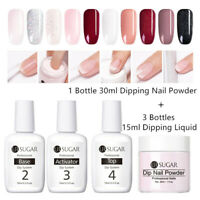 UR SUGAR 4 Pcs Dipping Nail Powder System Liquid No UV Lamp Needed Nail Art Lot
