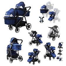 Baby Pram System &In Line Travel Tandem Second Seat Unisex New Toddler Boy Girl