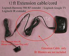 12ft Extension cable/cord 4 Logitech Mini IR Blaster;900 RF extender;Google TV