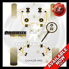 Vauxhall Opel Cavalier 2WD GSI Indep Rr Powerflex Black Full Kit Not RR Geo Adj