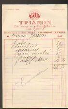 "CLERMONT-FERRAND (63) PATISSERIE / CONFISERIE / TEA ROOMS ""TRIANON"""