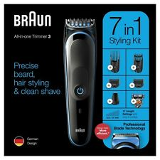Braun MGK3245 Mens 7-in-1 Beard & Face Trimmer Shaver & Hair Clipper Styling Kit