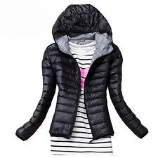 Women's Winter Slim Hooded Coat Zipper Trench Jacket Parka Outwear Overcoat S-XL